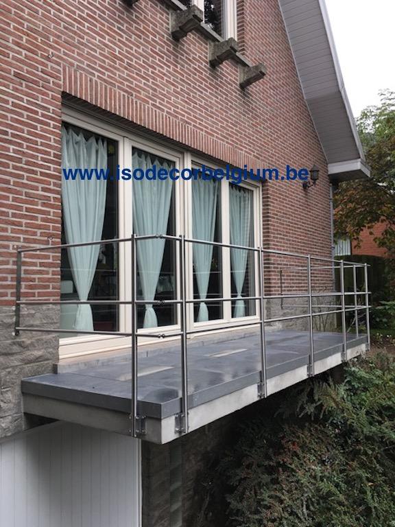 balcon avec balustrade inox isodecor. Black Bedroom Furniture Sets. Home Design Ideas